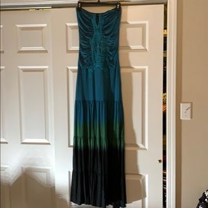 Beautiful dark blue tie dye maxi
